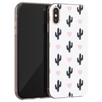 Leuke Telefoonhoesjes iPhone X/XS siliconen hoesje - Cactus love