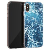iPhone X/XS siliconen hoesje - Ocean blue