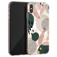 iPhone X/XS siliconen hoesje - Abstract print