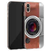 iPhone X/XS siliconen hoesje - Vintage camera