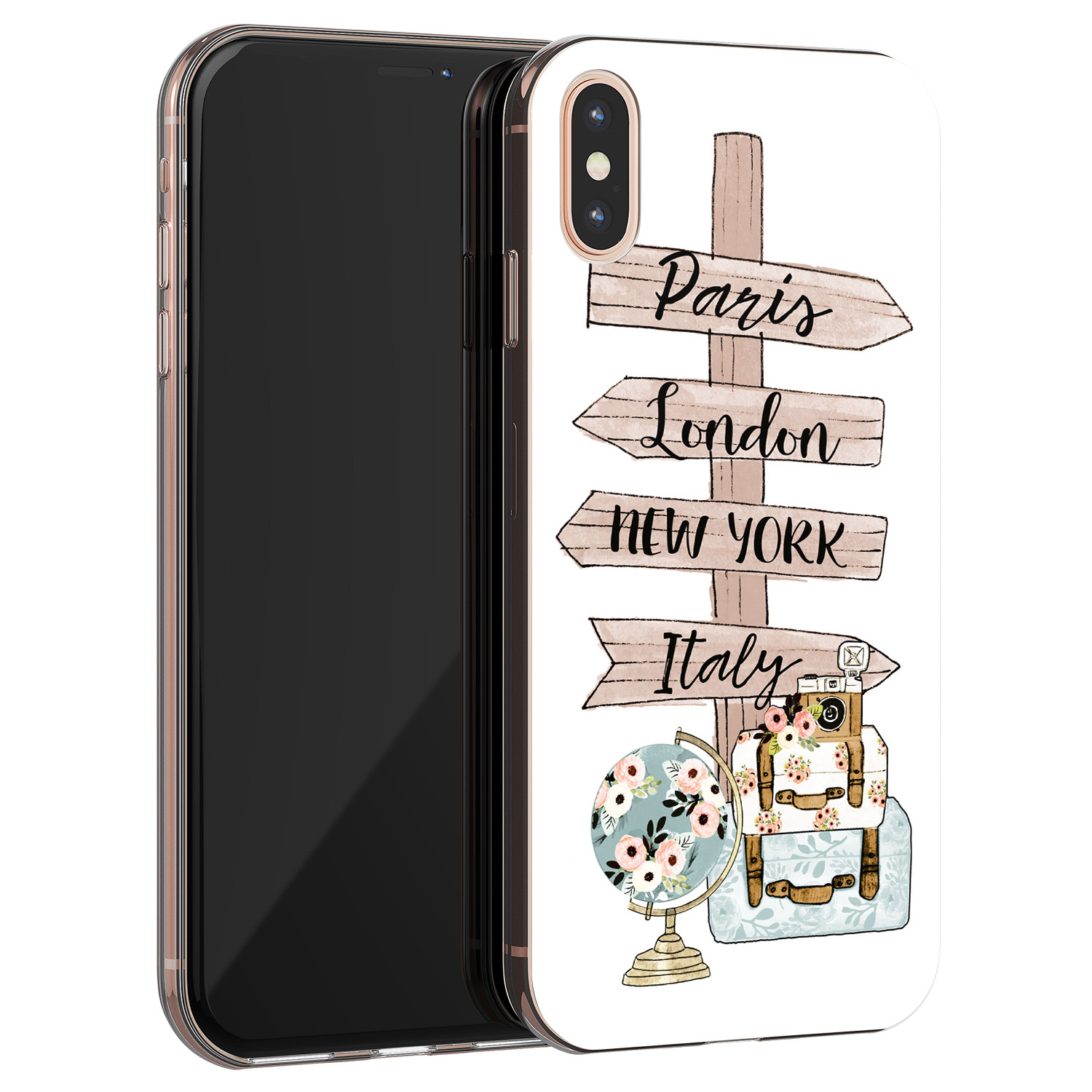 iPhone X/XS siliconen hoesje - Where to go next