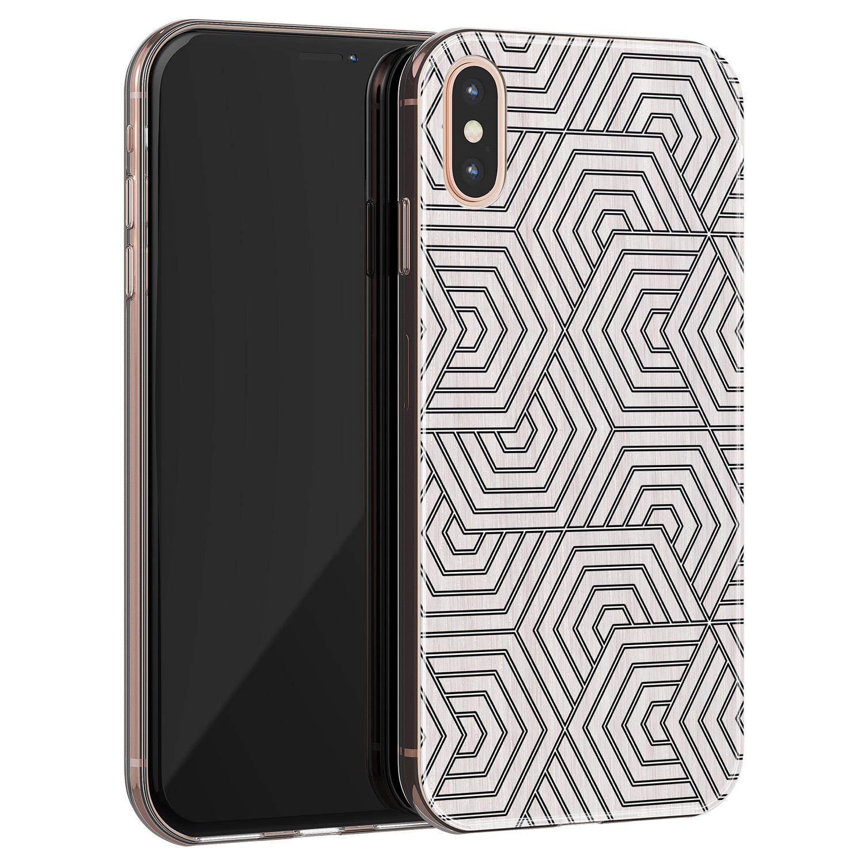 iPhone X/XS siliconen hoesje - Geometrisch