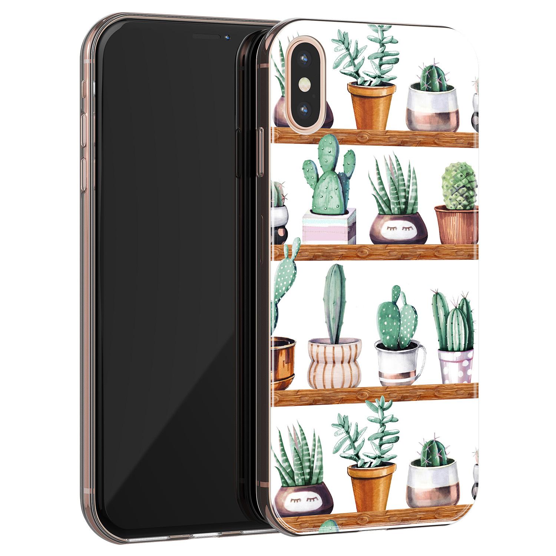 iPhone X/XS siliconen hoesje - Cactus