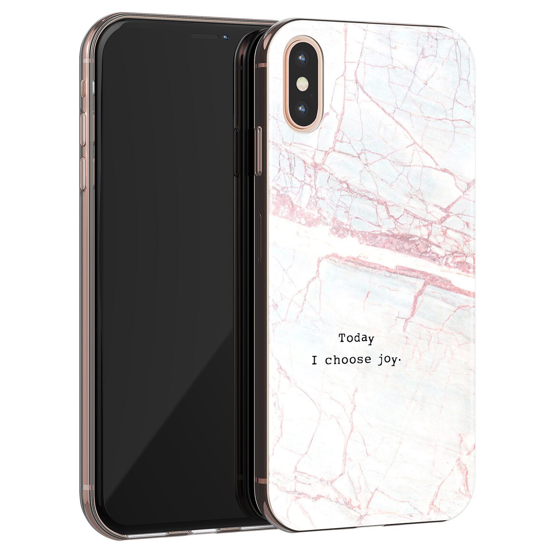 iPhone X/XS siliconen hoesje - Today I choose joy