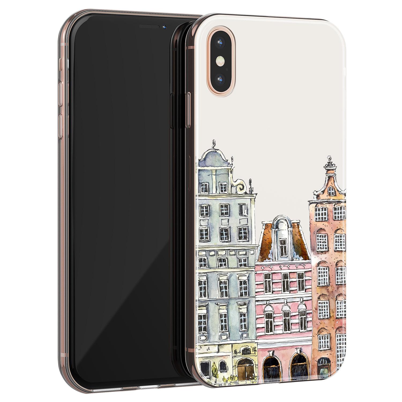 Leuke Telefoonhoesjes iPhone XS Max siliconen hoesje - Grachtenpandjes