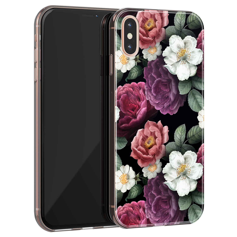 Leuke Telefoonhoesjes iPhone XS Max siliconen hoesje - Bloemenliefde