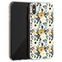 iPhone XS Max siliconen hoesje - Lovely flower