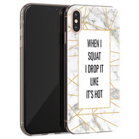 iPhone XS Max siliconen hoesje - Dropping squats