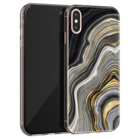 iPhone XS Max siliconen hoesje - Golden agate