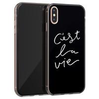Leuke Telefoonhoesjes iPhone XS Max siliconen hoesje - C'est la vie