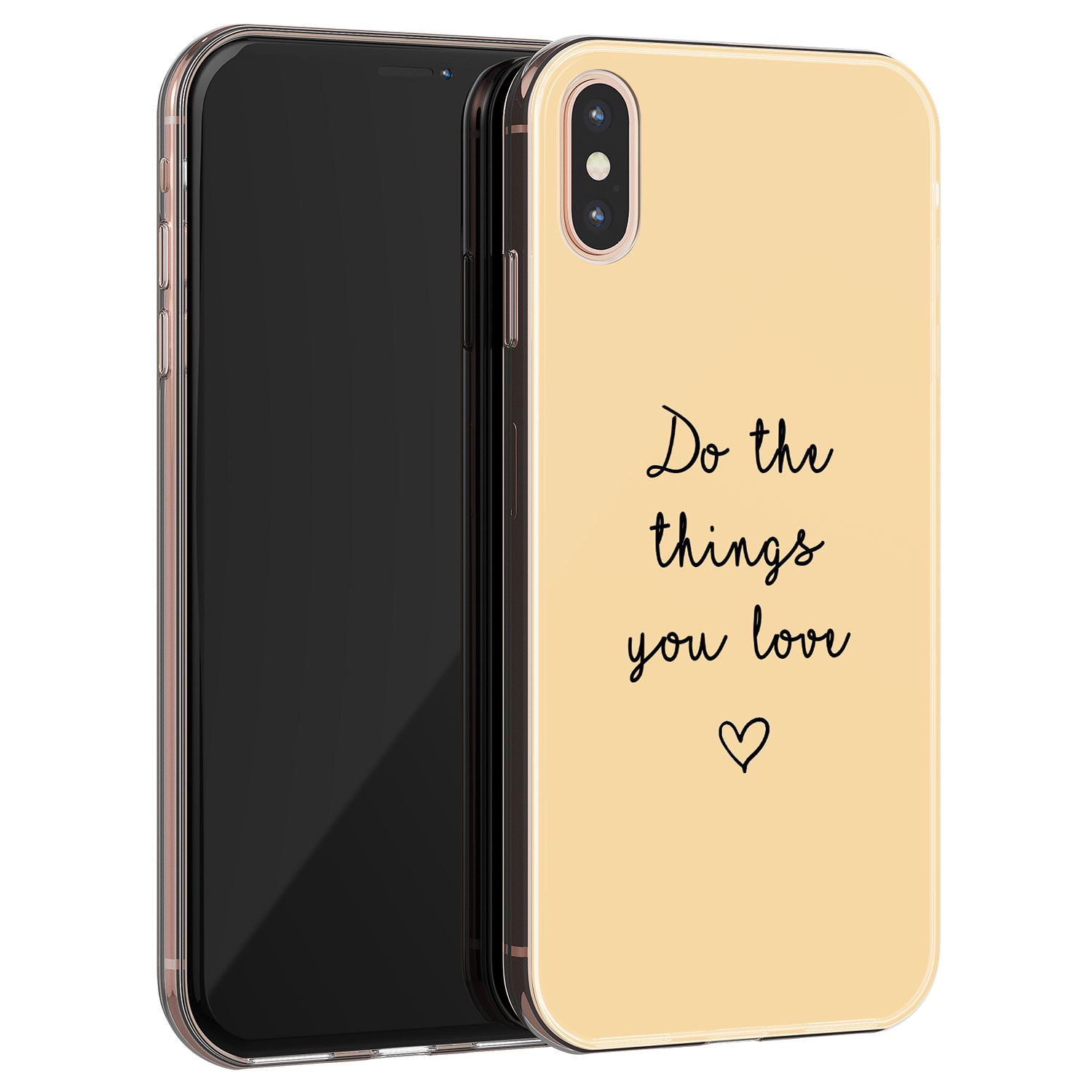 iPhone XS Max siliconen hoesje - Do the things you love