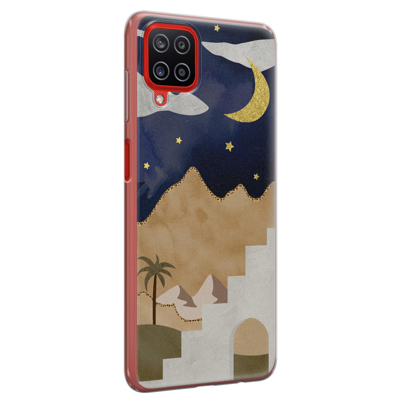 Samsung Galaxy A12 siliconen hoesje - Desert night