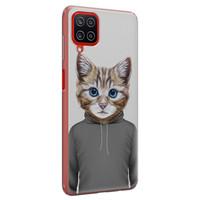 Samsung Galaxy A12 siliconen hoesje - Poezenhoofd