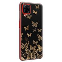 Samsung Galaxy A12 siliconen hoesje - Vlinders