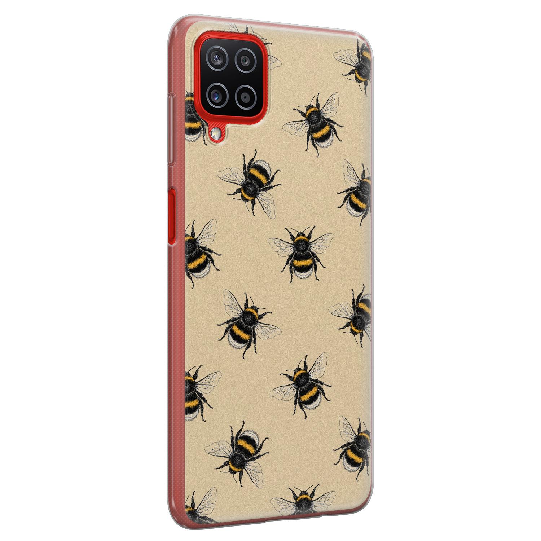 Samsung Galaxy A12 siliconen hoesje - Bee happy