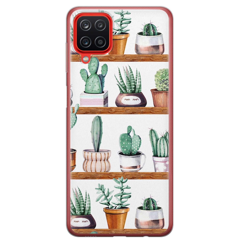 Samsung Galaxy A12 siliconen hoesje - Cactus