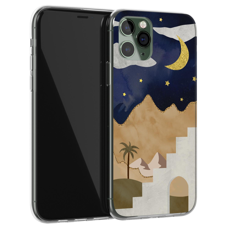 iPhone 11 Pro siliconen hoesje - Desert night