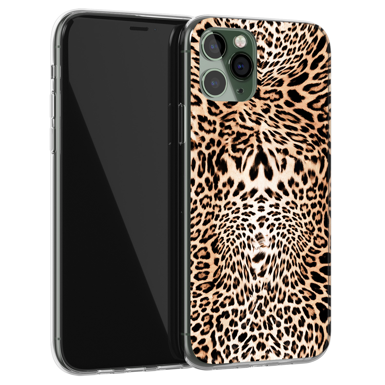 Leuke Telefoonhoesjes iPhone 11 Pro siliconen hoesje - Wild animal