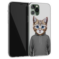 iPhone 11 Pro siliconen hoesje - Poezenhoofd