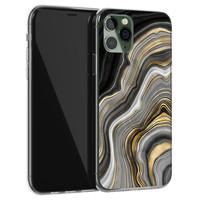 Leuke Telefoonhoesjes iPhone 11 Pro siliconen hoesje - Golden agate