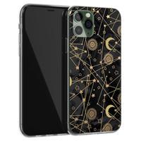 Leuke Telefoonhoesjes iPhone 11 Pro siliconen hoesje - Sun, moon, stars