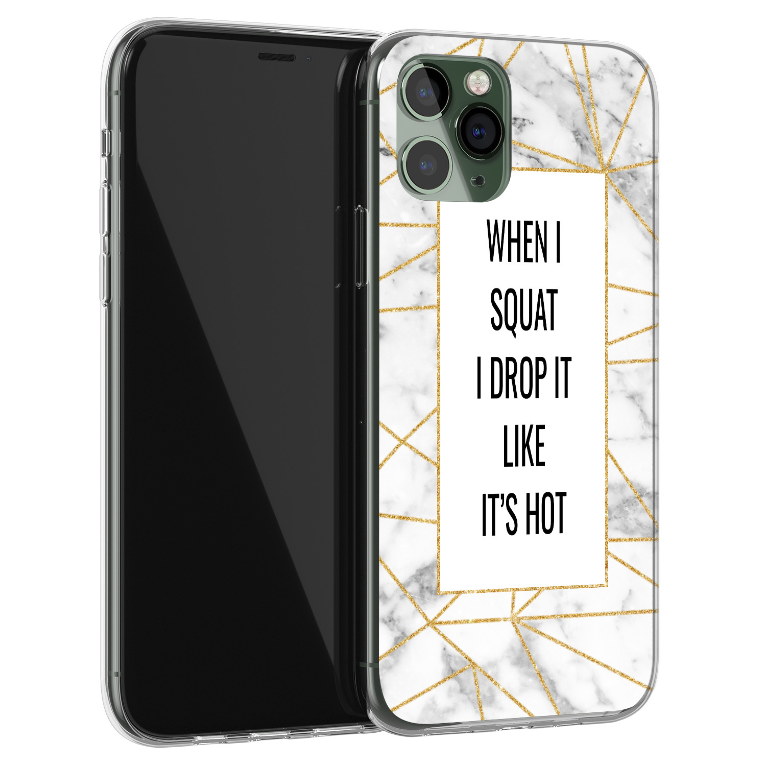 iPhone 11 Pro Max siliconen hoesje - Dropping squats