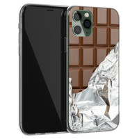 iPhone 11 Pro Max siliconen hoesje - Chocoladereep