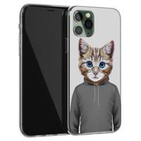 iPhone 11 Pro Max siliconen hoesje - Poezenhoofd