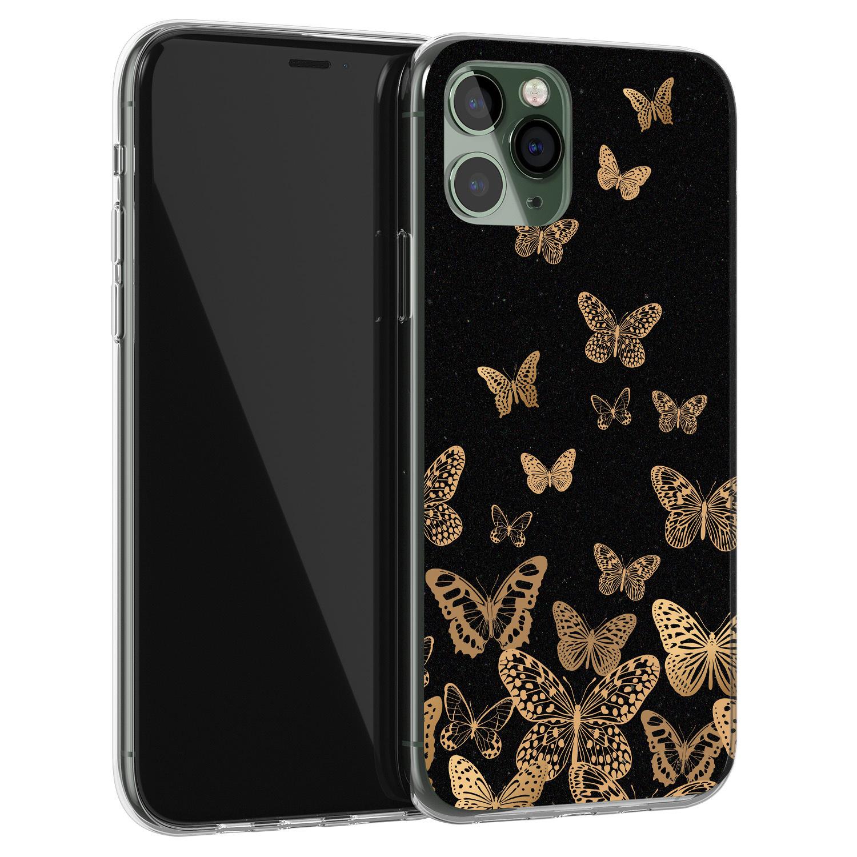Leuke Telefoonhoesjes iPhone 11 Pro Max siliconen hoesje - Vlinders