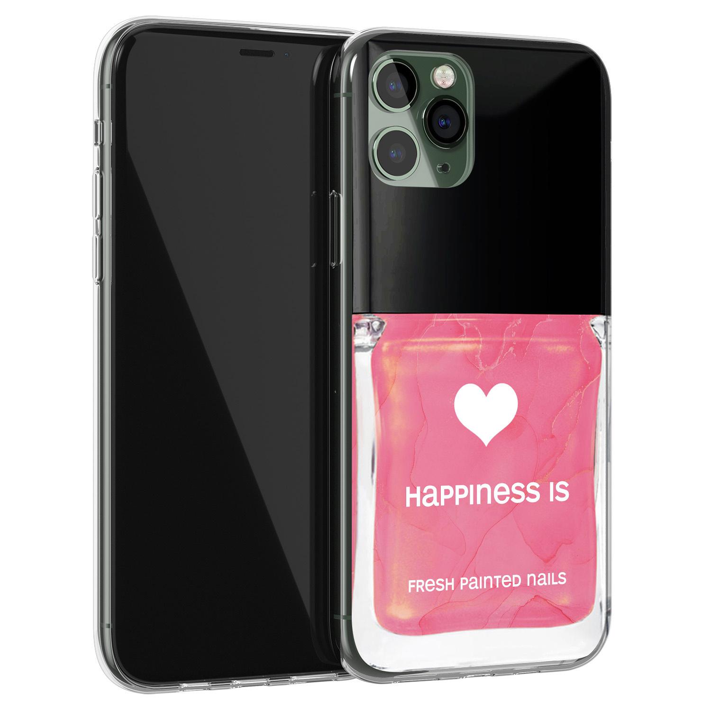 iPhone 11 Pro Max siliconen hoesje - Nagellak