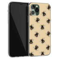 Leuke Telefoonhoesjes iPhone 11 Pro Max siliconen hoesje - Bee happy