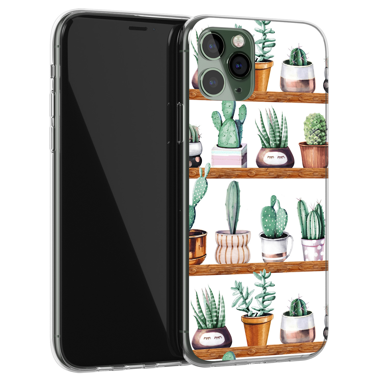 Leuke Telefoonhoesjes iPhone 11 Pro Max siliconen hoesje - Cactus