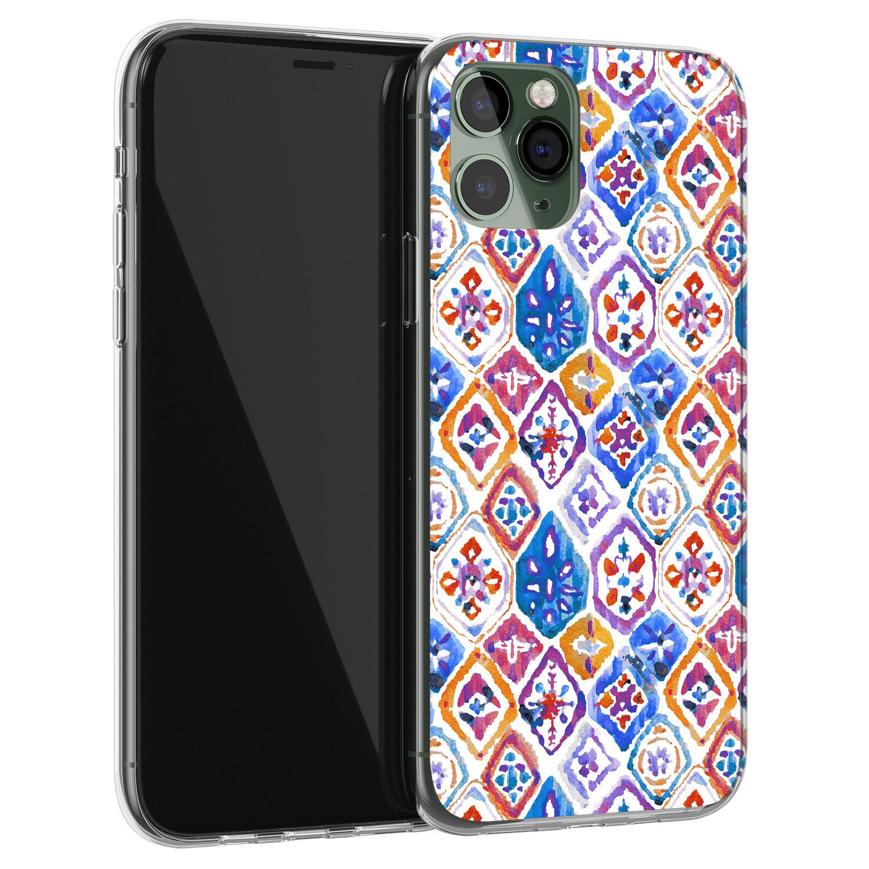 iPhone 11 Pro Max siliconen hoesje - Boho vibe