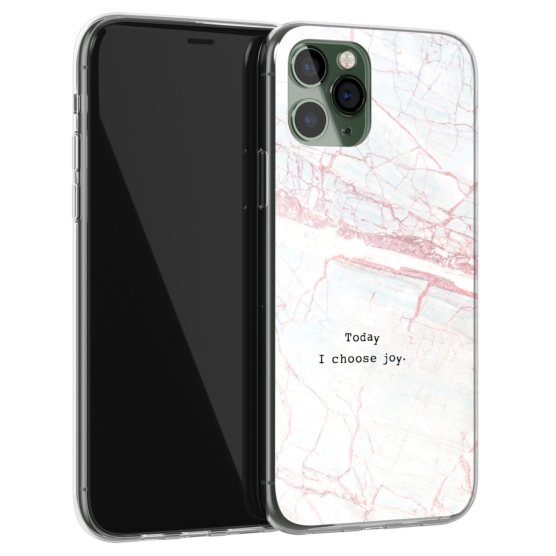 iPhone 11 Pro Max siliconen hoesje - Today I choose joy