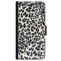 Leuke Telefoonhoesjes iPhone 12 bookcase leer - Luipaard grijs