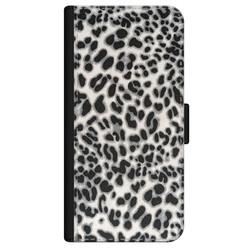 iPhone 12 bookcase leer - Luipaard grijs