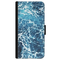 iPhone 12 bookcase leer - Oceaan