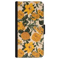 iPhone 12 bookcase leer - Retro flowers