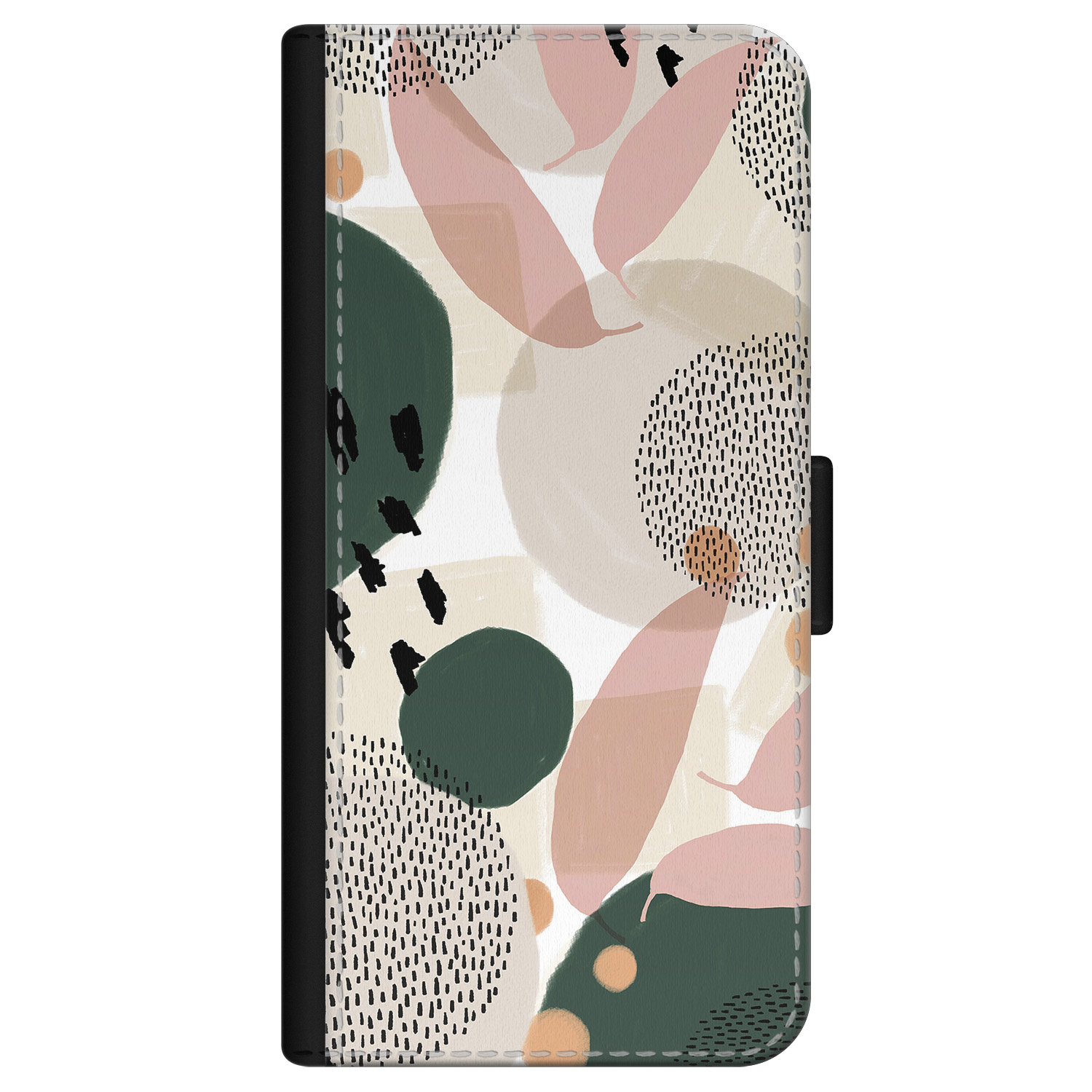 iPhone 12 Pro bookcase leer - Abstract print