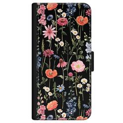 iPhone 12 Pro bookcase leer - Dark flowers