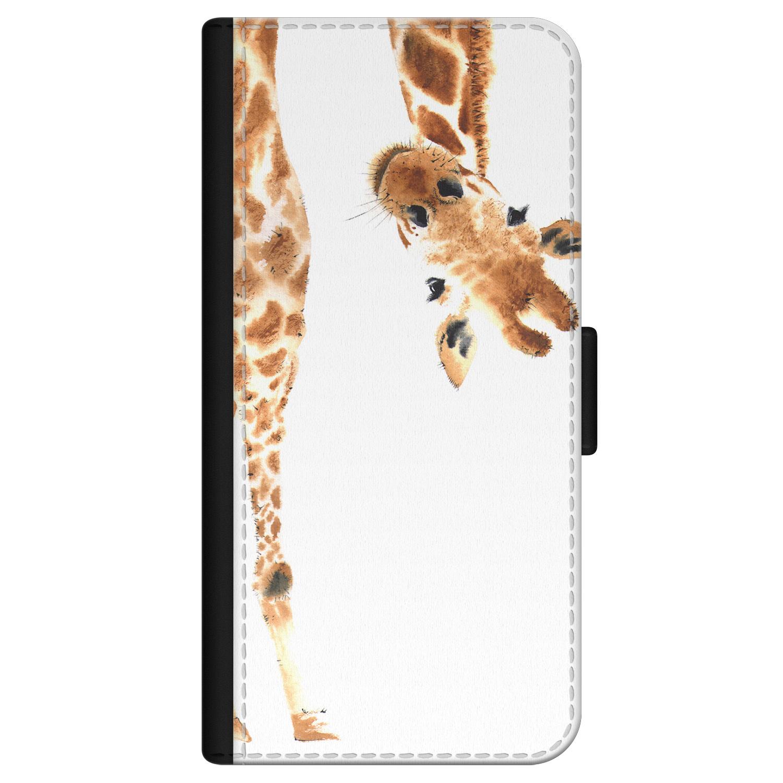 Leuke Telefoonhoesjes iPhone 12 Pro bookcase leer - Giraffe peekaboo
