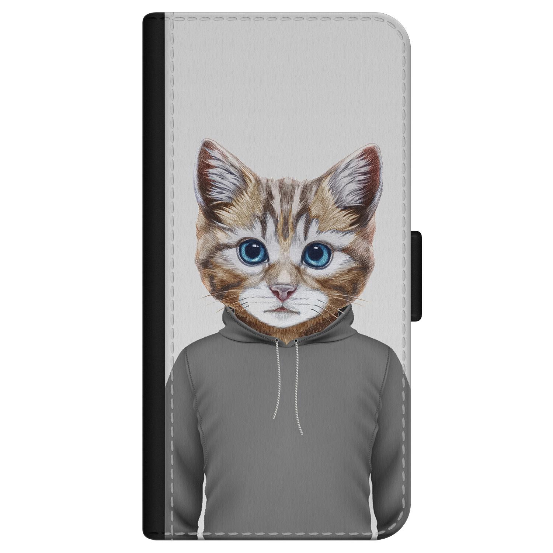 iPhone 12 Pro bookcase leer - Poezenhoofd