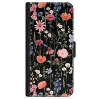 iPhone 11 bookcase leer - Dark flowers