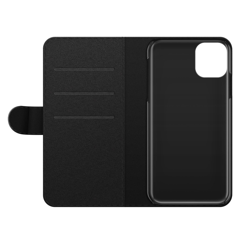 iPhone 11 bookcase leer - Poezenhoofd