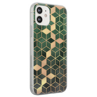 iPhone 12 siliconen hoesje - Green cubes