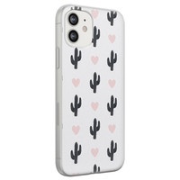 iPhone 12 siliconen hoesje - Cactus love