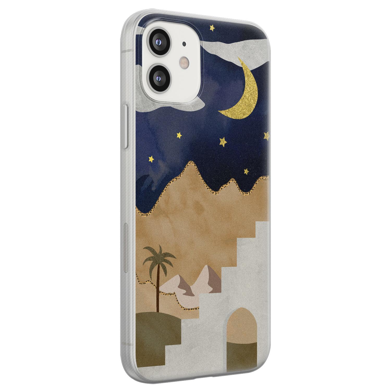 iPhone 12 siliconen hoesje - Desert night
