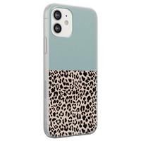 iPhone 12 siliconen hoesje - Luipaard mint