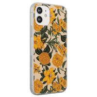 Leuke Telefoonhoesjes iPhone 12 siliconen hoesje - Retro flowers