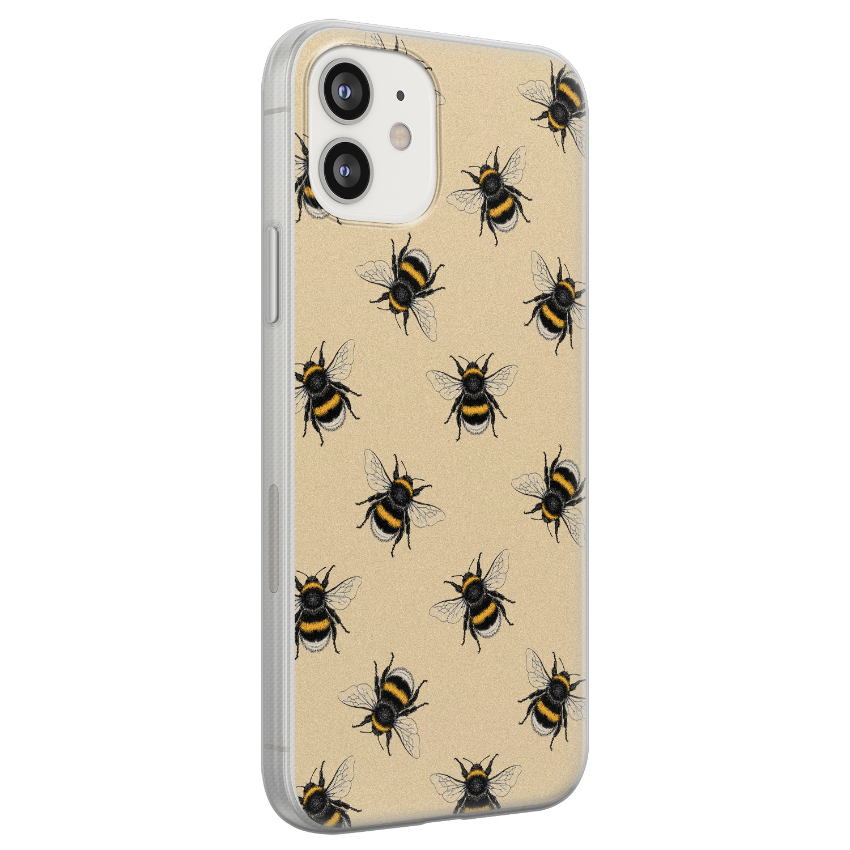 iPhone 12 siliconen hoesje - Bee happy